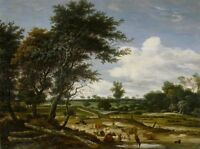 "oil painting  ""a shepherd resting in a meadow in the midst of his cattle ""@12715"