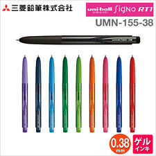Uniball Signo RT1 retractable 0.38mm UMN155 - 1x BLACK+ 1x BLUE+1x RED+1x Purple