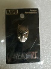 New in package Marvel Comics Black Panther T'Challa Mask Pewter Lapel Pin NICE!