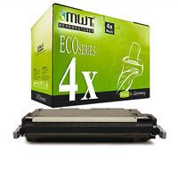 4x MWT ECO Patrone SCHWARZ ersetzt HP Q6460A 644A