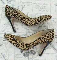Ivanka Trump Calf Pony Hair Leopard Print Heels Pumps Shoes Size 8.5 M