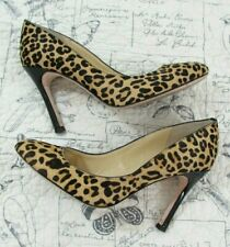Ivanka Trump Calf Pony Hair Leopard Print Heels Pumps Shoes Size 8.5 M
