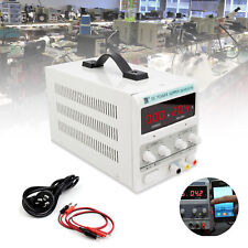 DC Power Supply 30V 10A Precision Variable LED Digital Lab Adjustable With Cable