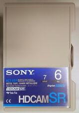 Sony BCT-6SR 6 min HDCAM SR (piccolo nastro della cassetta) in Bianco-NUOVO