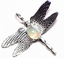 Ethiopian Welo Opal Dragonfly Pendant Necklace Sterling Silver 925 0.91 ct opal