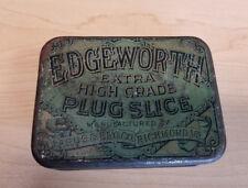 Vintage Tobacco Tin Edgeworth Plug Slice, Hinged Lid, Advertising Larus & Bros