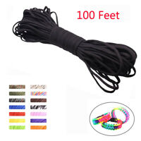 Paracord 100 Feet Mil Spec 7 Strand Type III Nylon Parachute Cord Rope Tie Downღ