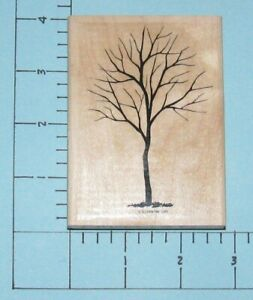 Stampin' Up! Wood Mounted Rubber Stamp ~ Tree Without Leaves