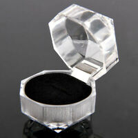 40pcs Wholesale Mixed Plastic Crystal Lots Jewelry Ring Display Boxes Black New