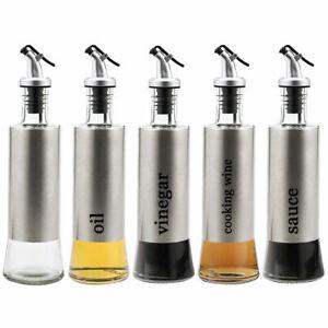 300-500ml Olive Oil Pourer Glass Bottle Control Dispenser Vinegar Kitchen Bottle
