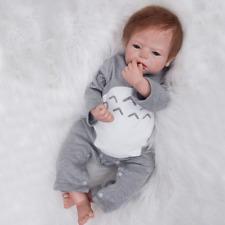 Ubty Reborn Bambini Boy gli occhi aperti Bambola in silicone morbido vinile 22 pollici 55 cm alla ricerca