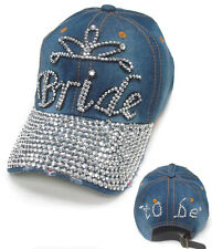 Rhinestone Bride Bridal Wedding Party Baseball Style Cap Hat