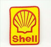 Shell Petrolium Petrol oil Embroidered Iron Sew on Patch j342