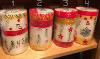 Candles Nobunto Kimeta Design - Hand Painted - Christmas