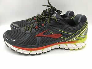 Brooks ADRENALINE GTS 15 DNA Sneakers Grey Black Red Running Shoes Mens Size 14D