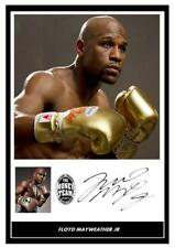 002.  FLOYD MAYWEATHER JR BOXING SIGNED REPRODUCTION PRINT SIZE A4