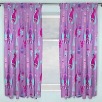 "OFFICIAL TROLLS CURTAINS 66"" X 54"" DROP PURPLE NEW OFFICIAL FREE P+P"