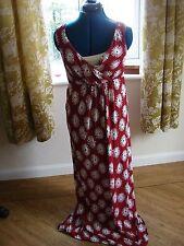 New Dickins & Jones ladies size 10 empire line maxi in red & white flower design