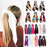 Ties Bow Solid Scrunchie Hair Hair Band Ribbon Satin Headband Scarf Rope Elastic
