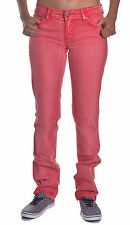 Element Jeans Womens Red Denim Straight Fit Size 9