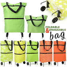 Folding Supermarket Shopping Bag Trolley Grocery Cart On Wheels Reusable Handbag
