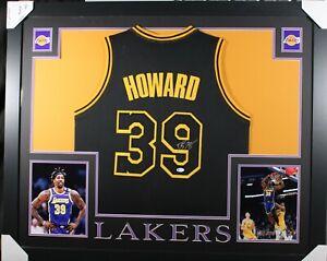 DWIGHT HOWARD (Lakers black SKYLINE) Signed Autographed Framed Jersey JSA