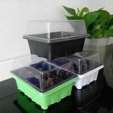 New 12 Cells Hole Plant Seeds Grow Box Tray Insert Propagation Seeding Case