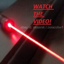 Powerful Red Laser Pointer Pen Focusable Beam Light 650nm Wicked Burning Lazer