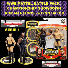 WWE MATTEL BATTLE PACK CHAMPIONSHIP S1 ROMAN REIGNS & FINN BALOR ELITE BASIC RAW
