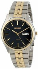 Seiko Men's SNE034 Two-Tone Solar Bluish black Dial Watch