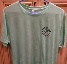"Men's XL 23"" PARKSIDE BREWERY Craft Beer Port Moody T Shirt Short Sleeve Green"