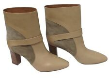 6c4a0673646 Chlóe Short Boot Tan Suede And Leather Size 39.5 New