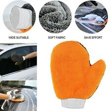 Soft Coral Fleece Microfiber Car Care Wash Mitt Cleaning Glove Washing Glove Rag