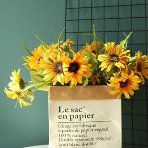 UK_ LN_ WO_ 1Bouquet Exquisite Artificial Sunflower Plant Garden Party Home Wedd