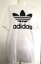Adidas Original Trefoil Men's White Logo T-Shirt Sz Large Nwt