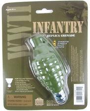 TOY HAND GRENADE infantry rocket cap bomb WWII Style metal/plastic uses gun caps