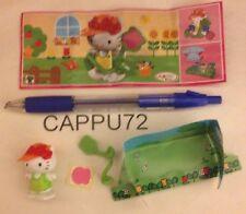 HELLO KITTY-GIARDINIERA+CARTINA FF329 logo grande-Kinder sorpresa Italia