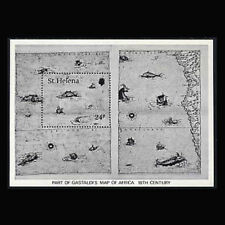 St Helena, Sc #352, MNH,1981, S/S, Map, Boats, Marine Life, CL046F