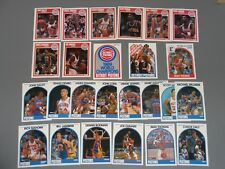 1989 Fleer & Hoops Detroit Pistons Team Sets w/SP (26 total) Bad Boys NBA Champs