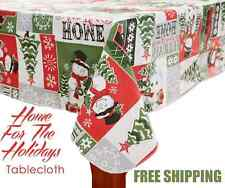 Christmas Snowman Table Cover Cloth FESTIVE Holiday Decor 52 x 90 FREE SHIPPING