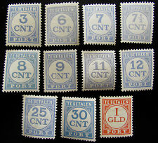 NED NVPH P69A - P79A + P73B & P78B Portserie 1921 prachtig ongebruikt CW 27,15