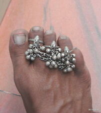 vintage antique ethnic tribal old silver toe ring belly dance jewelry fish