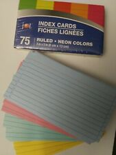 2xpack Colored Index Cards 5 Neon Colors Sealed 75 Pack And Loose 100 Pack