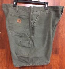 CARHARTT 42 CARPENTER GREEN SHORTS JEANS
