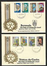 BERMUDA, TRISTAN DA CUNHA 1981 Duke of Edinburgh Award, FDC x 2
