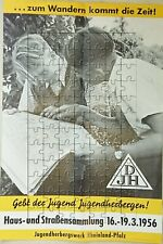 Plakat DJH Deutsche Jugendherbergen 1956 Jugendherbergswerk Rheinland-Pfalz