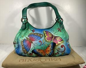 """anuschka handbags  Butterflies. size 16"""" wide X 5"""" Deep"""