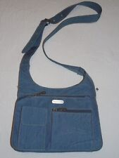 BAGGALLINI Denim Blue Nylon Crossbody Bag Purse Organizer - MINT