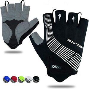 Cycling Bike Gloves Padded Half Finger Bicycle Gloves Shock-Absorbing