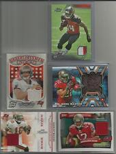 Buccaneers Game/Event Worn Used Jersey & Medal 5 Card Lot 2006-2014 Football